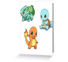 Pokemon chibi! Greeting Card