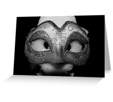Hiding behind the mask Greeting Card