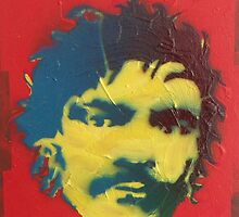 Julian Barratt in yellow, red and blue by Lukenotdave