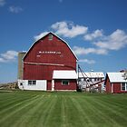 Red Barn and Blue Skies by ArtBee