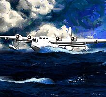 Short Sunderland Flying Boat WWII by Dennis Melling
