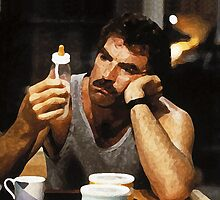 Tom Selleck with Baby Bottle by finerimpulses