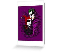Joker and Harley Greeting Card