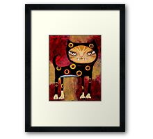 Babycat Gets Her Groove - Cat Art by Angieclementine Framed Print