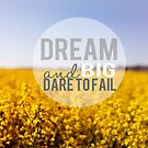 Dream Big and Dare To Fail by Nicola  Pearson