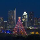 Austin Images - Trail of Lights and the Austin Skyline 2013 by RobGreebonPhoto