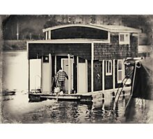 Houseboat Drive By Photographic Print