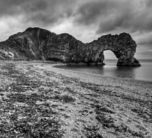 Durdledoor in the rain by Guy  Berresford