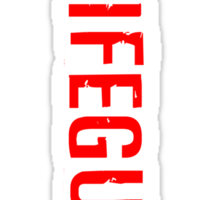Lifeguard (Red Vertical Variant) Hoodie Sticker