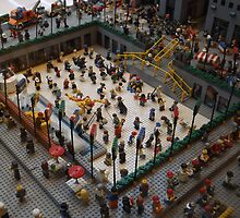 Lego Rockefeller Center Skating Rink, Lego Rockefeller Center Store, New York City  by lenspiro