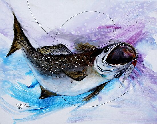 AWESOME Speckled Trout Painting from J. Vincent Scarpace by 17easels