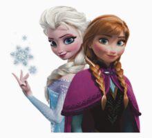Anna and Elsa by tatiananori
