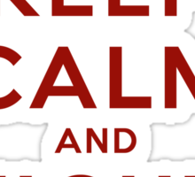 Keep Calm and Fight On (Gold iPhone Case) Sticker