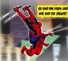 Attack on Spideypool by RedFlare