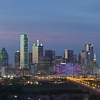 Dallas Skyline Panorama - Dallas Skyline Images 612-1 by RobGreebonPhoto