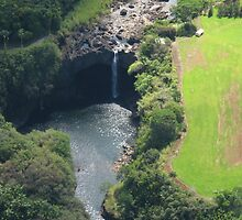 Waterfall from Helicopter, Hilo by Nicole Jurgensen