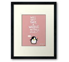 Valentine's Day Card (PENGUIN) Framed Print
