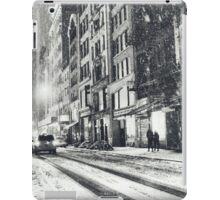 New York on a Winter Night in the Snow iPad Case/Skin