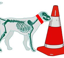 DOG & TRAFFIC RUBBER CONE by SofiaYoushi