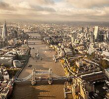 Aerial London looking westwards by Phil  Hatcher
