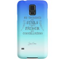 My Thoughts are Stars I Cannot Fathom into Constellations Samsung Galaxy Case/Skin