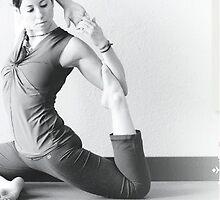 Zen Yoga Pose  by Nicole Bloom Art