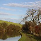 LOOKING ALONG A STRETCH OF THE CANAL AT WEST MARTON , YORKSHIRE .  by Dahlia48