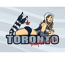 Toronto Maple Leafs Chickybabe Photographic Print