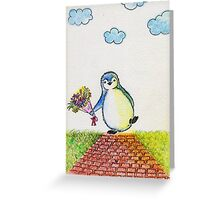Happy Penguin Greeting Card