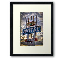 Stagecoach Motel Framed Print