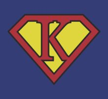 K letter in Superman style by florintenica