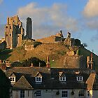 Corfe Castle and Village by RedHillDigital