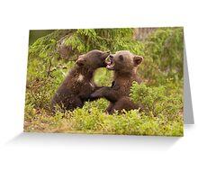 Bear Cubs Playing Greeting Card