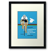 MY UCI Road World Championships MINIMAL POSTER 2014 Framed Print