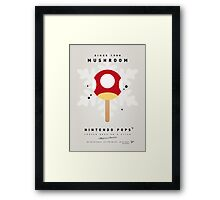 My NINTENDO ICE POP - Mushroom Framed Print