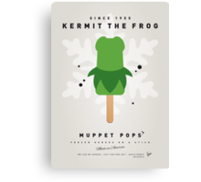 My MUPPET ICE POP - Kermit Canvas Print