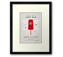 My SUPERHERO ICE POP - Iron Man Framed Print