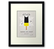 My SUPERHERO ICE POP - BATMAN Framed Print