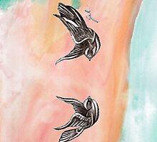 Harry Styles Swallows Tattoo by CharmedOwl