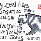 Zeal for Your Word (wolverine) by dosankodebbie