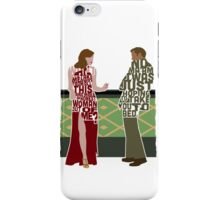 Emma Stone & Ryan Gosling from Gangster Squad Typography Design of Their Conversation iPhone Case/Skin