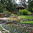 Gardens in Banff by Chris  Randall