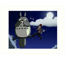 Totoro and the Doctor's Midnight Musicale Art Print
