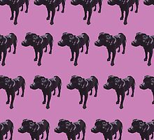 Lavender Lab Pattern by pupsofnyc