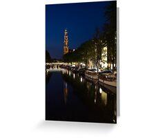Amsterdam Blue Hour Greeting Card