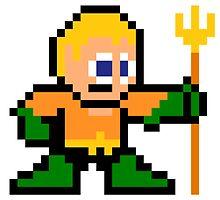 8-bit Aquaman by 8 Bit Hero