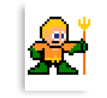 8-bit Aquaman Canvas Print