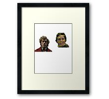 Enjolras and Marius Framed Print