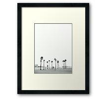 Bleached Beach Framed Print
