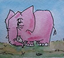 Told you don't think about a pink elephant by jadlart